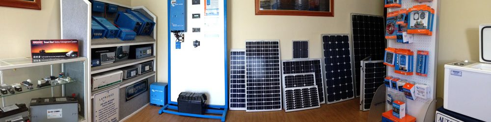 An array of different products in WA Solar Supplies' store