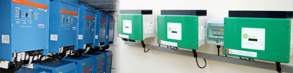 Two merged images of inverters in WA Solar Supplies's store